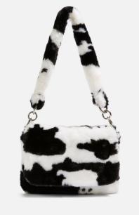 topshop cow print bag