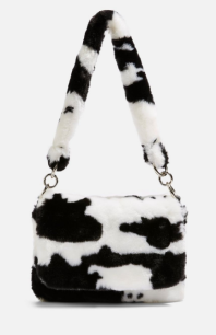 topshop cow print bag