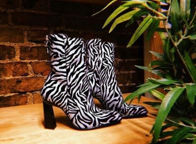 topshop zebra boots
