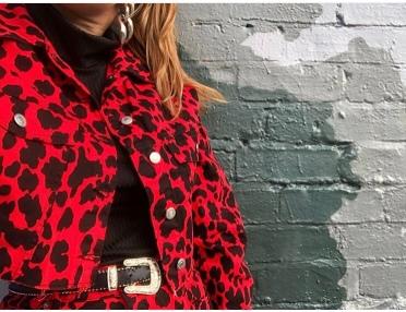 topshop red leopard print